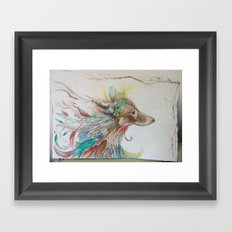 Gypsy Wolf Framed Art Print