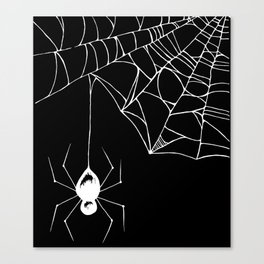Spider White Canvas Print