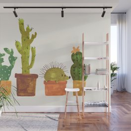 Hedgehog and Cactus (incognito) Wall Mural
