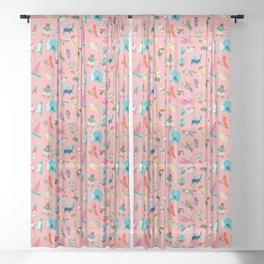 Purrrfect Summer Sheer Curtain