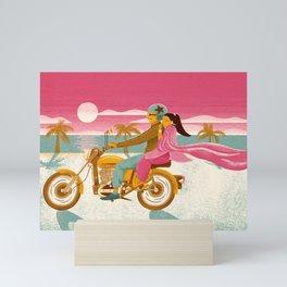 Lovers in a beautiful summer sunset Mini Art Print