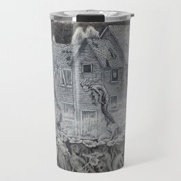 Lotus Teeth (collaboration with Kevin Newell of Evergreen Illustration) Travel Mug