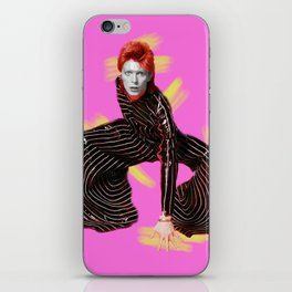 pinky bowie4 iPhone Skin