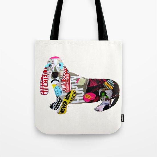 dachshund graffiti Tote Bag