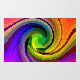 Color wheel storm Rug