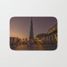 Burj Khalifa sunset Bath Mat