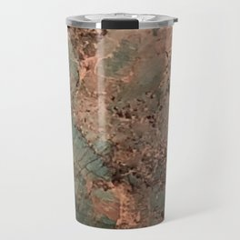 Marble Emerald Copper Blue Green Travel Mug