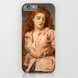 The Martyr of the Solway by John Everett Millais, 1871 iPhone Case