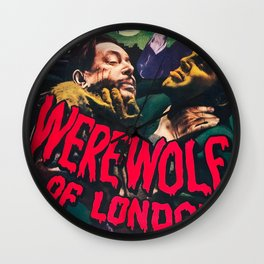 Werewolf of London, vintage horror movie poster Wall Clock