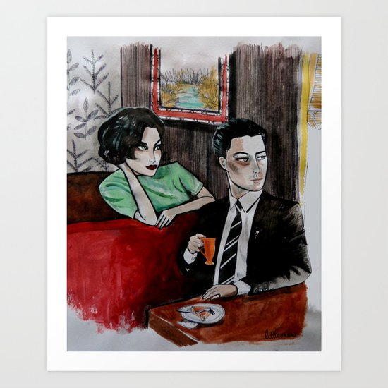 Twin Peaks - Dale Cooper and Audrey Horne Art Print