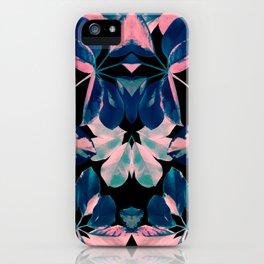 Fluorescent Flora Kaleidoscope iPhone Case