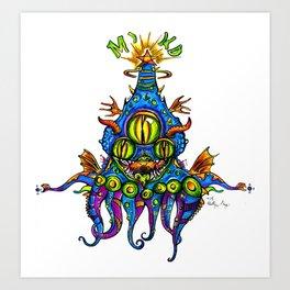 Levitating Mind Creature  Art Print