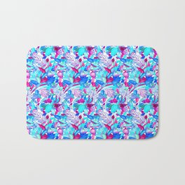 Blue Purple jungle Bath Mat