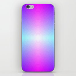 Four color blue, purple, pink, white ombre iPhone Skin