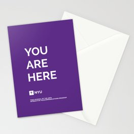 YOU ARE HERE [Gotham Violet] Stationery Cards