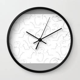 Cats drawing Wall Clock
