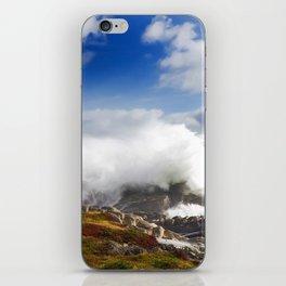 Wave crashing in Louisbourg iPhone Skin