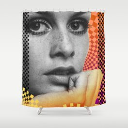 Supermodel Twiggy 2 - Supermodels of the Sixties Series Shower Curtain