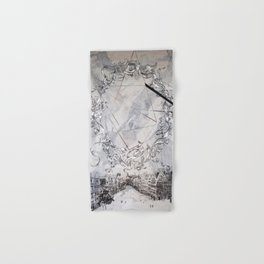 Black and white abstract city landscape Hand & Bath Towel