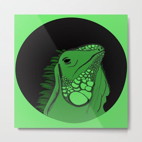 Green Iguana Illustration  Metal Print