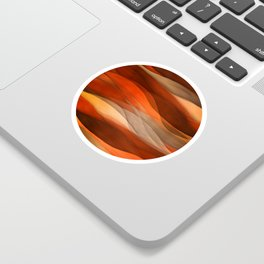 """""""Sea of sand and caramel waves"""" Sticker"""