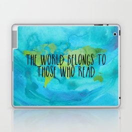 The World Belongs to Those Who Read - Watercolour Laptop & iPad Skin