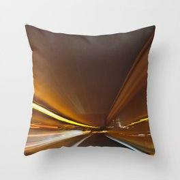 Traffic in warp speed Throw Pillow