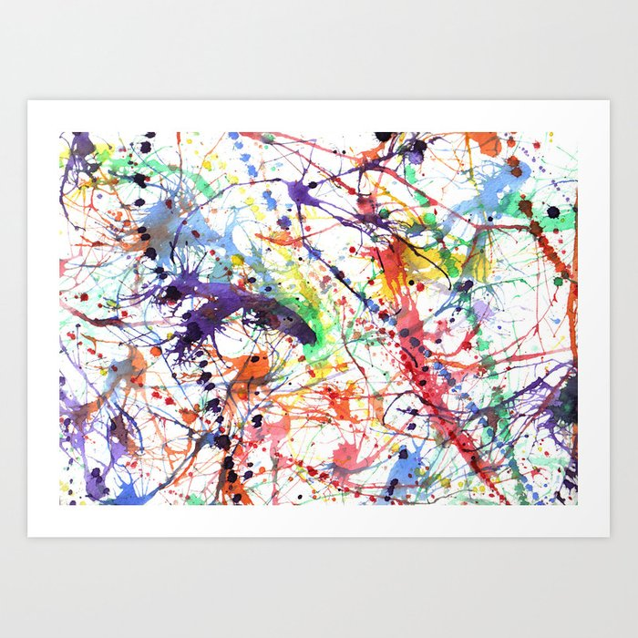 Watercolor Splatters Art Print