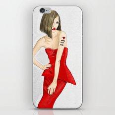 Fashion model iPhone & iPod Skin