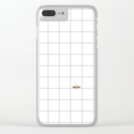 Pie Cooling on the Windowpane Pattern Clear iPhone Case
