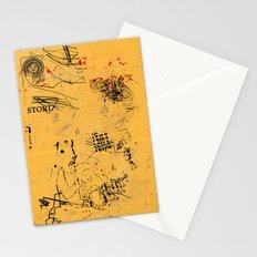 erased 4 Stationery Cards