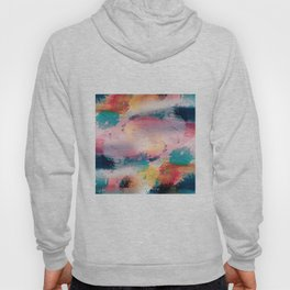 Modern Colorful Brush Strokes Paint Abstract Art Hoody