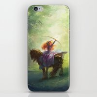brave iPhone & iPod Skins featuring Brave by hart-coco