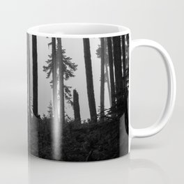 Mountain Biker in the Misty Bike Park Coffee Mug