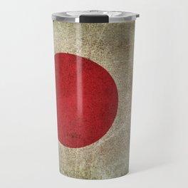 Old and Worn Distressed Vintage Flag of Japan Travel Mug
