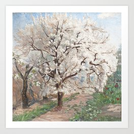 Trees in blossom Art Print