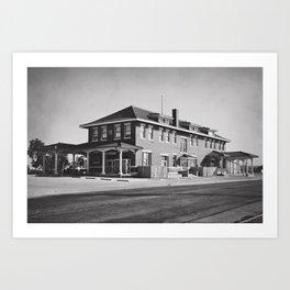 Old Train Station Art Print