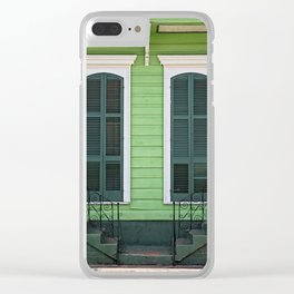 Green Creole Cottage Clear iPhone Case