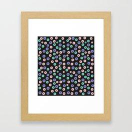 Donuts pattern Framed Art Print