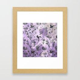 Wallflower (in Violet) Framed Art Print