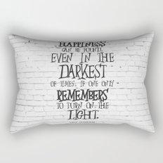 Albus Dumbledore Quote Inspirational Rectangular Pillow