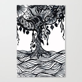 Henna Design 9 (Tree of Life) Canvas Print