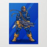 deathstroke Canvas Prints featuring Deathstroke by Levi Cleeman