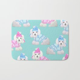 Bichon Frise / Maltese Dog / Maltichon / cute white dog Bath Mat
