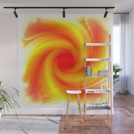Goldfire Portal Abstract Wall Mural