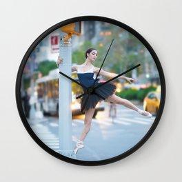 New York City Ballerina Wall Clock