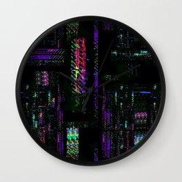 Miami Glitch Wall Clock