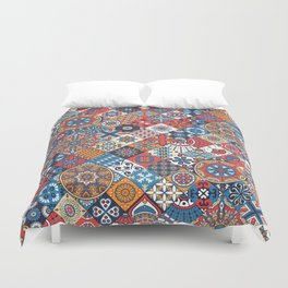 Vintage decorative elements Duvet Cover