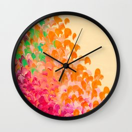 CREATION IN COLOR Autumn Infusion - Colorful Abstract Acrylic Painting Fall Splash Ombre Ocean Waves Wall Clock