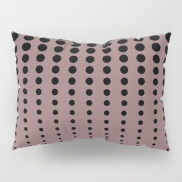 Reduced Black Polka Dots Pattern on Solid Pantone Red Pear Background Pillow Sham